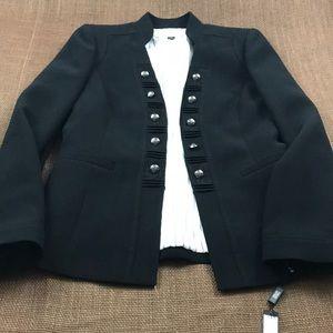 Tahari Black Size 4 Blazer - hook and loop front